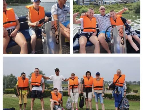 Team Overdal aan het varen